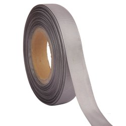 Grosgrain - Silver Grey Ribbons 25mm/1''Inch Gross Grain Ribbon 20mtr Length