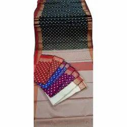 002 Designer Polyester Cotton Sarees