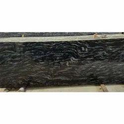 Polished Big Slab Black Markino Granite, For Flooring, Thickness: 18 mm