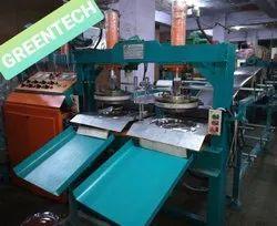 Fully Automatic Double Cylinder Dona Thali Making Machine