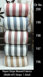 Printed Rayon Weaved Handloom Fabrics