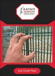 Silver Mild Steel Anti Climb 358 Mesh Safety Fence Wire