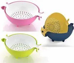 Multifunctional Washing Fruits & Vegetables Basket Strainer And Detachable Drain Basket Bowl