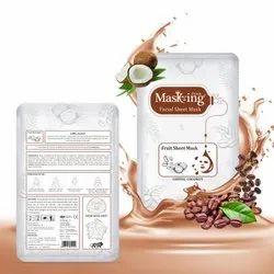 MASKING-Fruit Facial Sheet Mask - Coffee, Coconut - Skin Nourishing & Conditioning