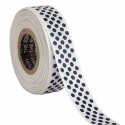 Polka Dots White Ribbons25mm/1''inch Gross Grain Ribbon 20mtr Length