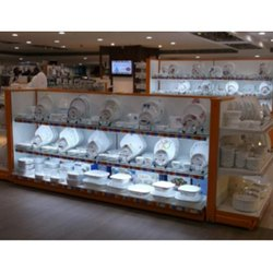 End Cap Crockery Display Unit