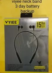 Ergonomic In-Ear Wireless Neckband Headphones with Stereo Sound & Built-in Mic