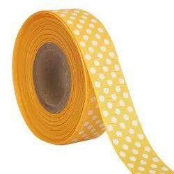 Polka Dots Golden Yellow Ribbons 25mm/1''inch Gross Grain Ribbon 20mtr Length