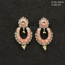 Ethnic Meenakari Chandbali Earrings