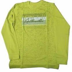 Hosiery Yellow Round Neck Full Sleeve T Shirt