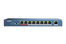 Grey 100m Hikvision 8 Port Poe Switch With Uplink Ds-3e0109p-E
