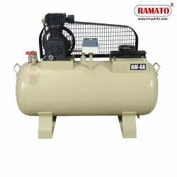RMT-7 2 HP 1 Cylinder Single Stage Air Compressor With 132 LTR Tank