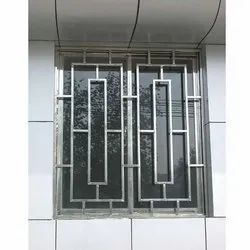White Polished Steel Window Grills, For Home