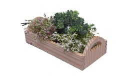 Brown Wooden Decorative Pine Wood Basket, For Household, Size: 10 X 4.5 X 3