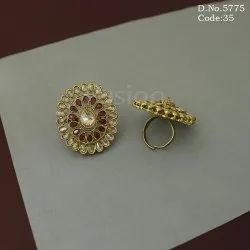 Party Wear Artificial Jewelry Antique Adjustable Finger Ring