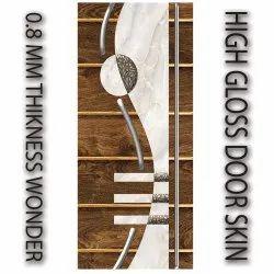 Digital High Gloss Door Skin 0.8 Mm Thickness Size 39x84 Inch