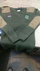 Army wool cardigan