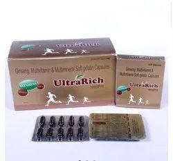 Ultra Rich Ginseng Multivitamin And Multimineral Soft Gelatin Capsules, 10x1x10 Capsule, Prescription