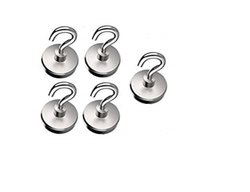 Lifekrafts Heavy Duty Magnetic Hooks (5 Pack) For Multi-purpose Hanging