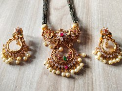 Festival Golden,Black Women Imitation Necklace Set, Size: 30 Inch