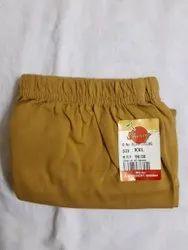 Hoisery Plain Cherry Cotton Mustard Colour Slacks, Size: Large