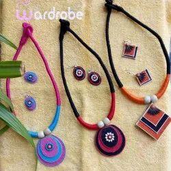 Fancy J3 Jute Necklace Set