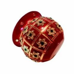 Red Stainless Steel Decorative Traditional Pooja Kalash, For Puja