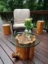 Round Termite Proof Wooden Table