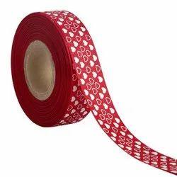 Hearts Maroon Ribbons 25mm/1''inch Gross Grain Ribbon 20mtr Length
