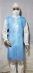 Polypropylene Blue Disposable Sterile Plastic Apron, Size: Free Size