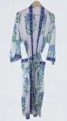 Cotton Hand Block Printed Kimono Robe