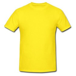 Plain Polo Neck Men Yellow Half Sleeve T Shirt, Size: Micro Polyester
