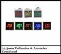 22.5mm Voltmeter & Ammeter Combined