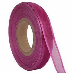 Organza Satin - Magenta Ribbons 25mm/1''inch 20mtr Length