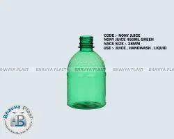 Flip Top Cap Juice Plastic Bottle, Capacity: 450 Ml