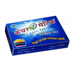 Blue Detergent Cake, Shape: Rectangle, Packaging Size: 185 G