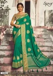 Party Wear Designer Silk Saree