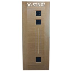 Hinged Steel Beading Solid Moulded Skin Door, For Home, Single