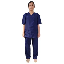 Blue Women Hospital Uniforms Nurse Uniform, Patient Uniform, Laboratory Uniform, Womens Scrub Set