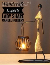 Lady Shape Tea Light Candle Holders