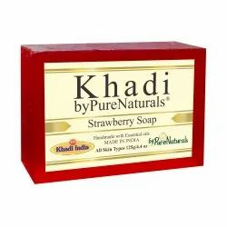 byPureNaturals Khadi Strawberry Soap-125gm