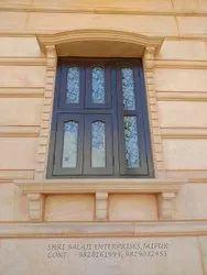 Rajasthan Rectangular Carved Sandstone Window Frame