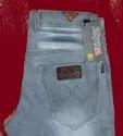 Wrioker Button Mens Regular Fit Denim Plain Jeans