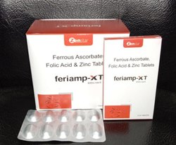 Ferrous Ascorbate Folic Acid & Zinc Tablet, 10*1*10 Tablets, Alu Alu