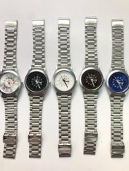 Silver Round Baleno Men Wrist Watch