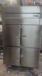 SS Four Door Vertical Refrigerator Freezer, Capacity: 500 To 700 L