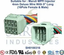 Automotive parts Maruti MPFI Injector 4mm Deluxe Wire with 9