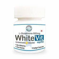 byPurenaturals Whitevit 500 Skin Lightening Brightening Kin Vitamin- 15 Softgel Capsules Jar