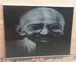Black Laser Engraved Granite Picture Tiles, Thickness: 25mm