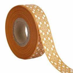 Hearts Mustard Ribbons 25mm/1''inch Gross Grain Ribbon 20mtr Length